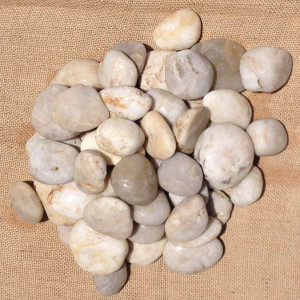 Off White Polished Pebbles 30 - 50mm