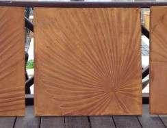 01023 Organic Wall Plaque Rust Dry
