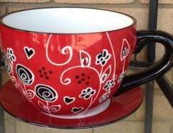 Red & Black Tea Cup
