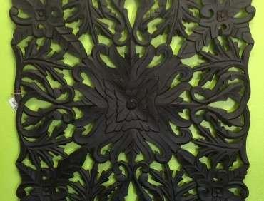 96017WAL Carved MDF Black