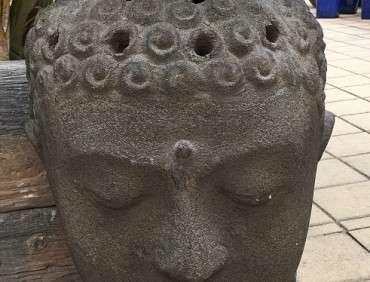FT221 Antique Brown Buddha Head