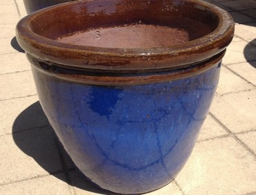 ST0927 Falling Blue Belly Pot