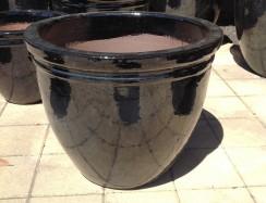 ST0927 Shiny Black Belly Pot
