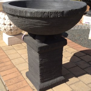 FJR046 Black Large Chalice Bowl Main Image
